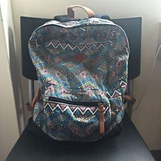 COTTON ON Aztec Print Backpack