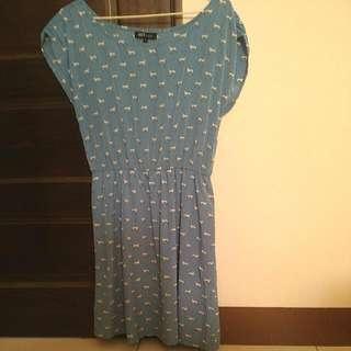 💲含運💲Net 狗兒 點 藍色洋裝