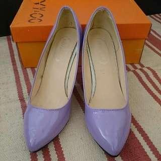 出清二手品,高跟鞋 尖頭,馬卡龍 紫色