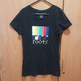 Roots 黑色短袖