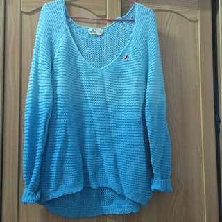 含運正品Hollister藍色漸層毛衣L