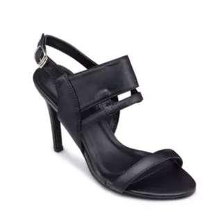 Black Strap Heels By Something Borrowed