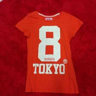 🐱 SuperDry(極度乾燥) 女生款短袖TEE (Size:S) 橘色