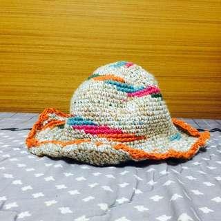 手工編織彩色漁夫帽