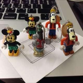 絕版迪士尼Yujin積木人米妮高飛扭蛋轉蛋Disney