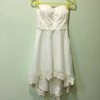 🚚 純白蕾絲小禮服