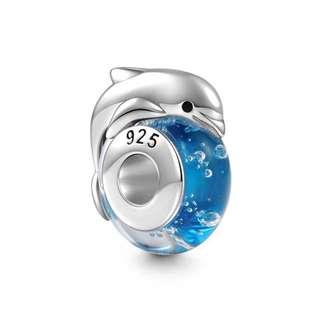 郵寄免運☆正品現貨☆SOUFEEL 索菲爾 925純銀串珠 戲水海豚 海洋 Pandora串珠吊飾適用