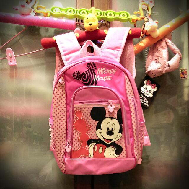 正迪士尼粉紅後背包