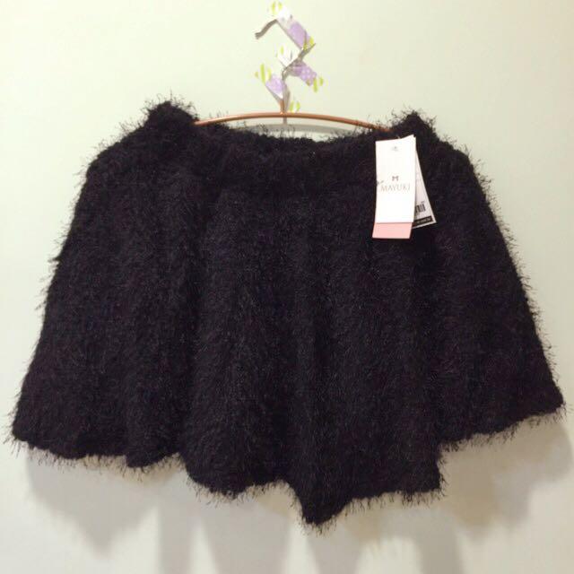 東京著衣蓬蓬棉絨毛短裙
