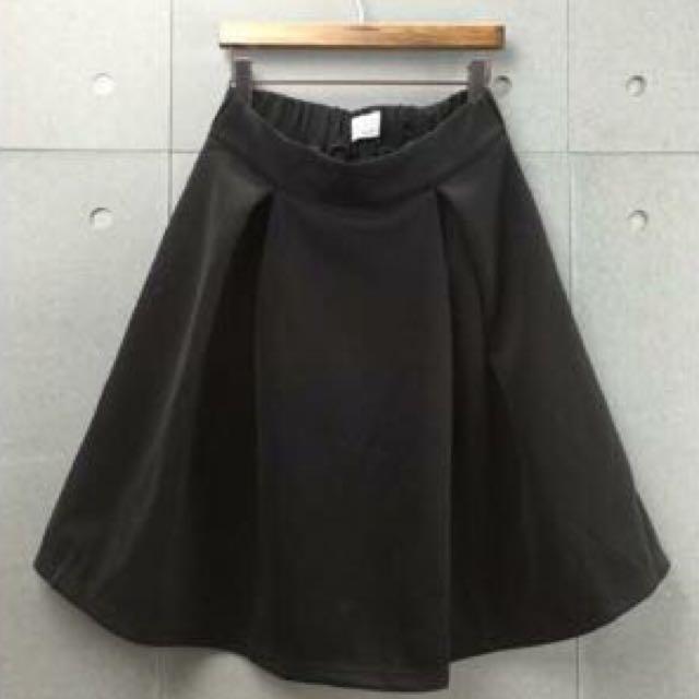復古素色裙/裙子