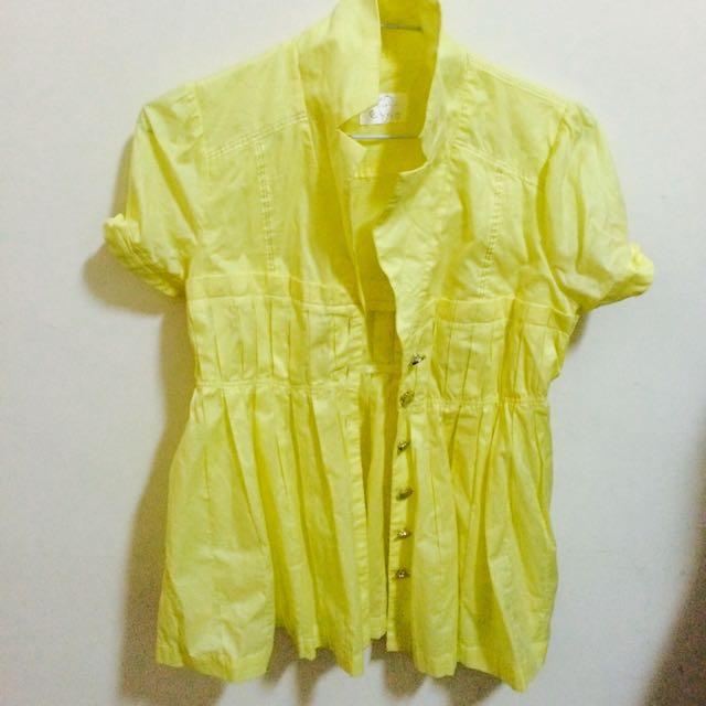 黃色公主襯衫