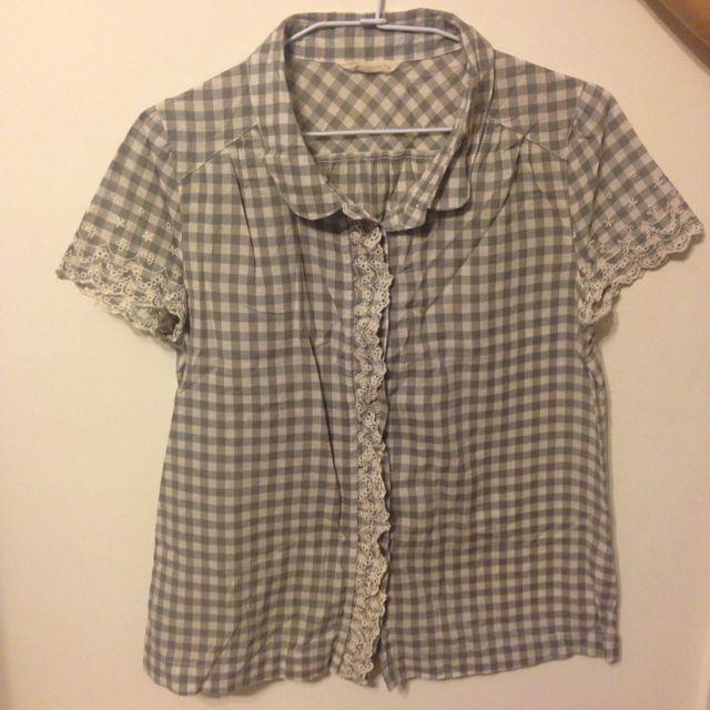 日系格子襯衫(灰)