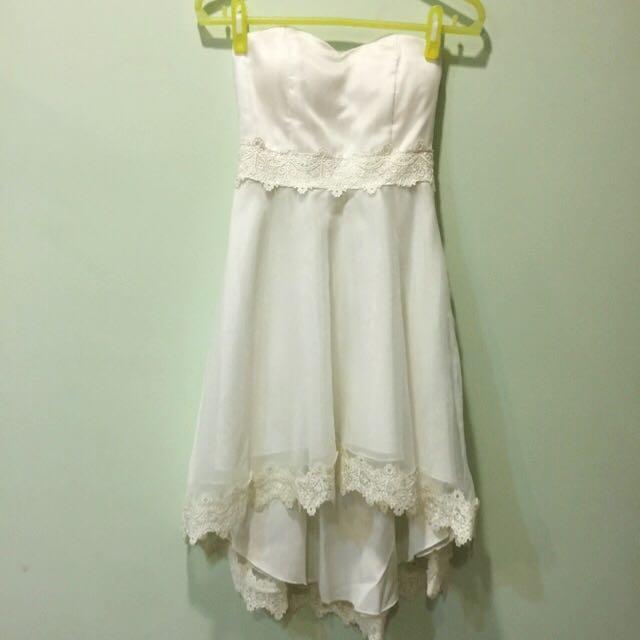 純白蕾絲小禮服