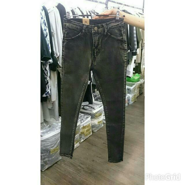 🆕 高質感刷色黑長褲