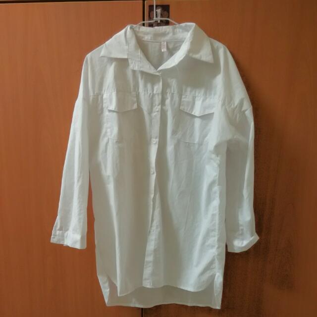韓風白色襯衫