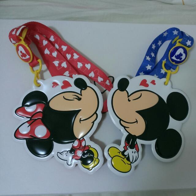 【東京迪士尼】米奇&米尼 識別證吊牌