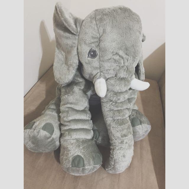 嬰兒絨毛大象娃娃 小飛象 象象 珊瑚絨布 迪士尼