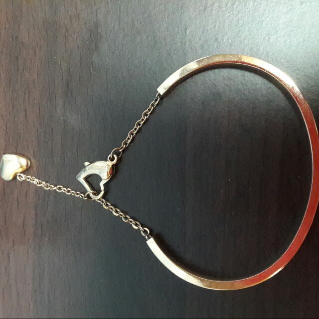 甜蜜午後 玫瑰金 素面 延長鏈設計 鈦鋼手環 不退色 防過敏  手環 二手品