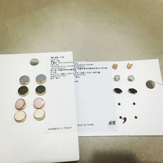 H&M耳環 全新