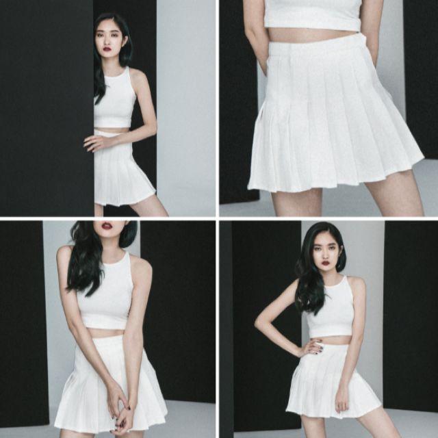 american apparel百摺裙