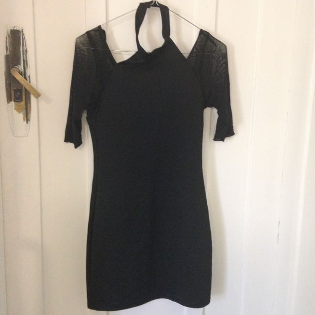 Black Dress With Neck Detail