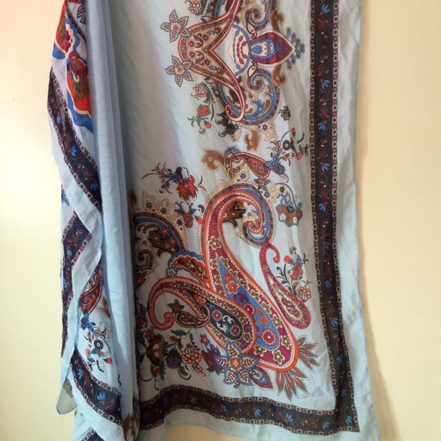 *SALE* Paisley Polyester Large Square Shawl