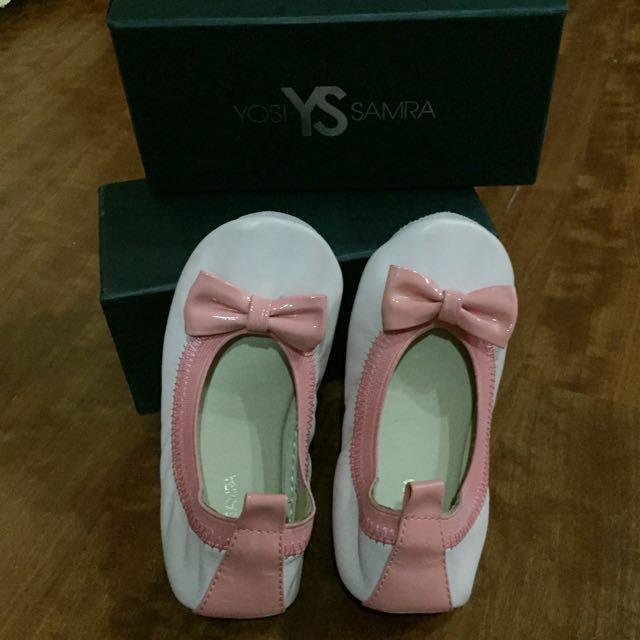 (全新)Yosi Samra 舒適柔軟 折疊平底娃娃鞋 拼色蝴蝶結芭蕾舞鞋