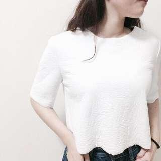 Zara 短袖 白