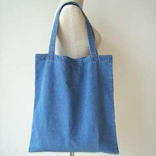 INSTOCK! Light Blue Denim Tote Bag