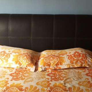 Queen Size Bed FrameWith Ikea Side Table