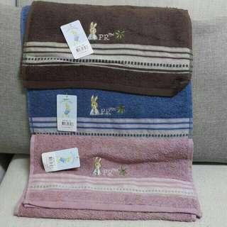 [彼得兔]織緞精繡毛巾