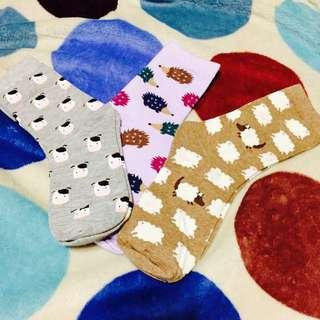 中統 襪子 牛 綿羊 刺蝟 日系 森林 甜美 日本 現貨