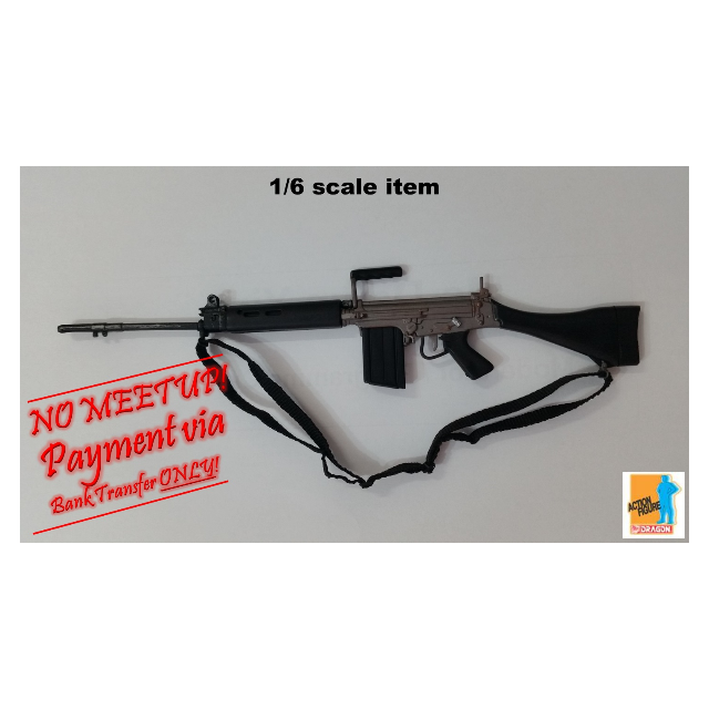 1:6 scale DRAGON L1A1 Self-Loading Rifle (SLR) - Black with