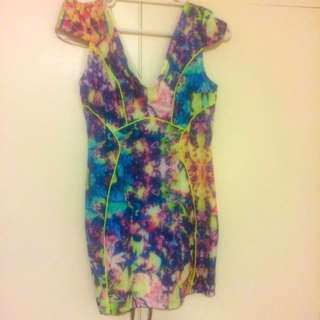 Multi-coloured Dress Size 12 Worn Once