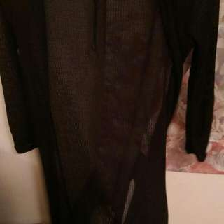 針織長板外套