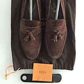 Tod's Brown Suede Loafer