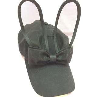降價!Q兔耳朵黑色棒球帽