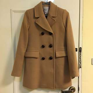 [二手衣物]ZARA毛呢長版大衣(秋冬必備大衣)