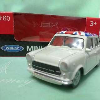 【絕版出清】全新1:60 mini cooper模型車(白)