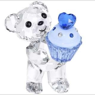 SWAROVSKI 施華洛世奇水晶Kris小熊-藍色杯子蛋糕