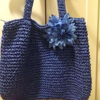 峇里島民族風-大花編織包(二手)
