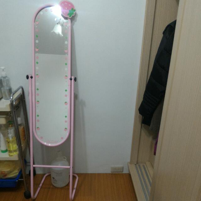 草莓立鏡,粉色,8成新
