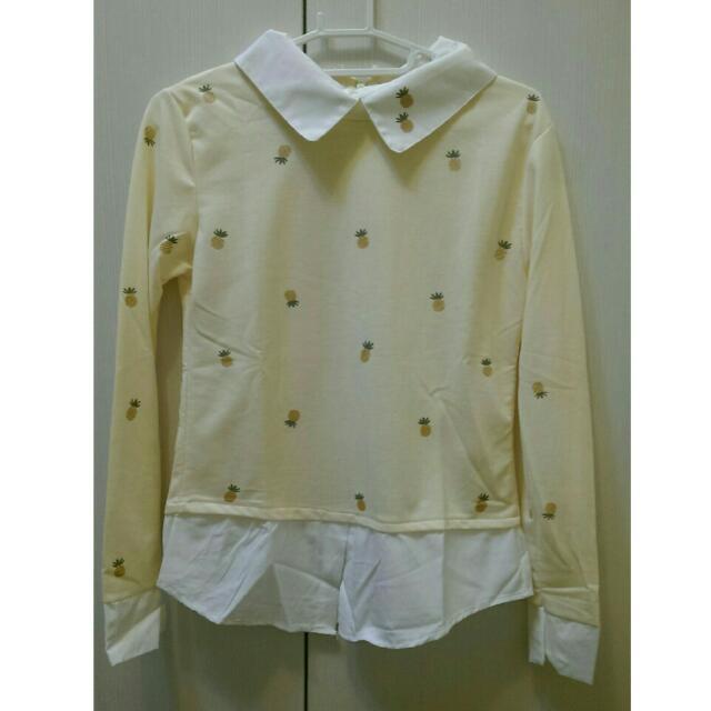 小鳳梨假兩件襯衫