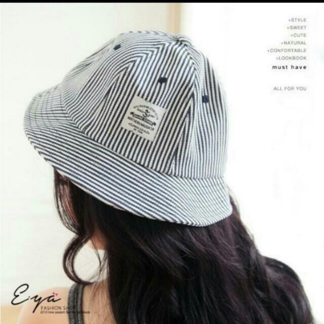 條紋全新漁夫帽