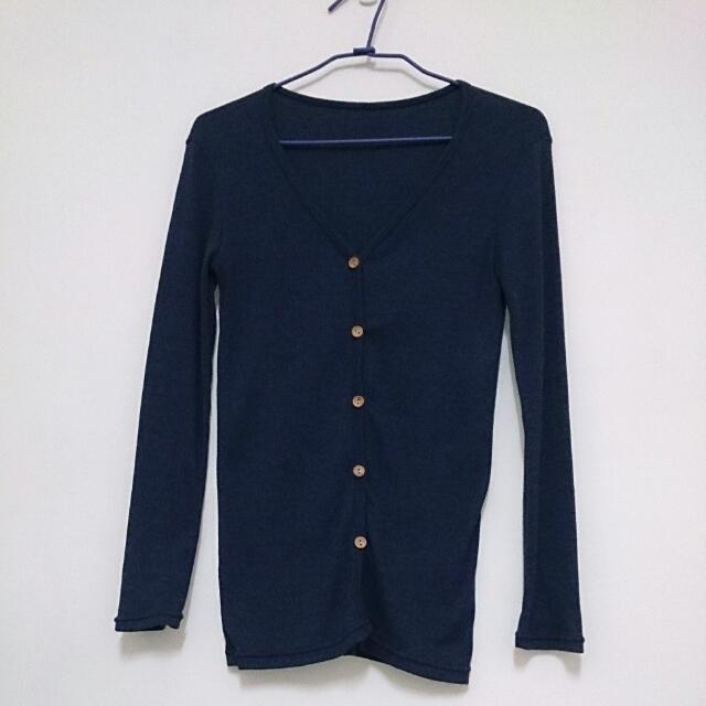 針織羅紋外套