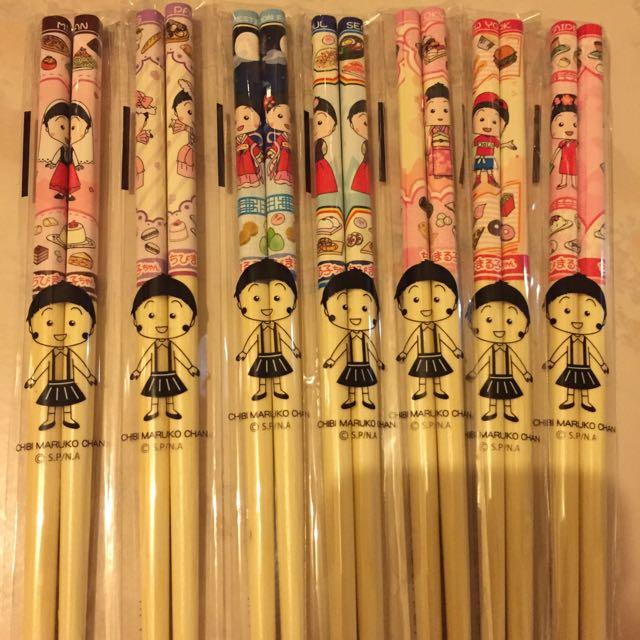 含運小丸子筷子 七款一組250$
