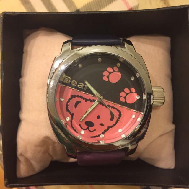 全新 熊熊手錶