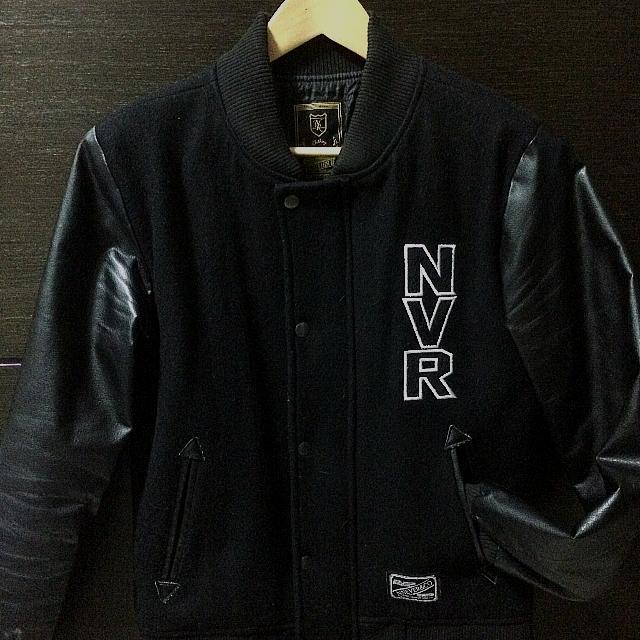 羊毛皮袖 棒球外套 棒外 自創品牌 台牌 Nnever M
