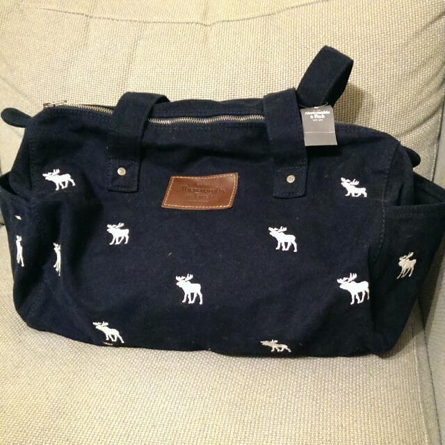 Abercrombie & Fitch 運動背包/中小型行李包/手提包/肩背包 全新品 深藍色