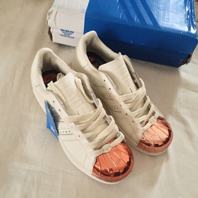 adidas rose gold metal toe